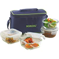 Borosil Glass Lunch Box Set