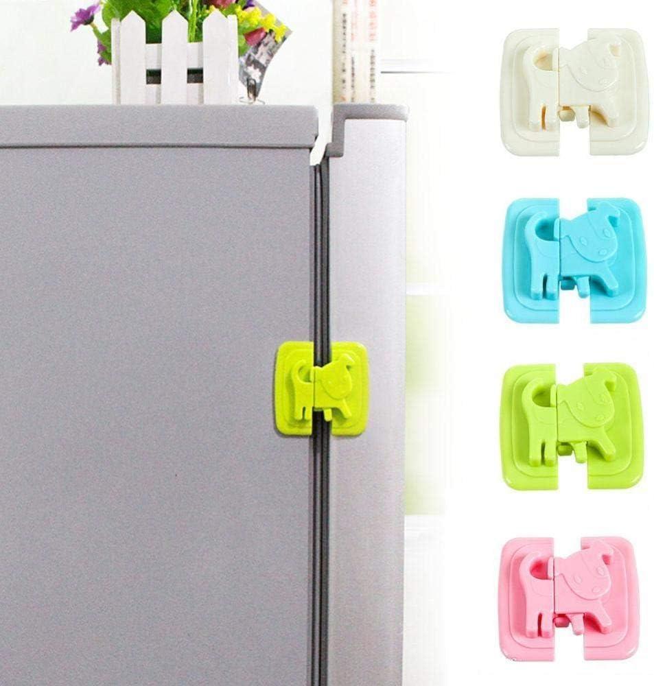 puertas correderas blanco Blanco cajones microondas MCalle Cierre de seguridad para frigor/ífico