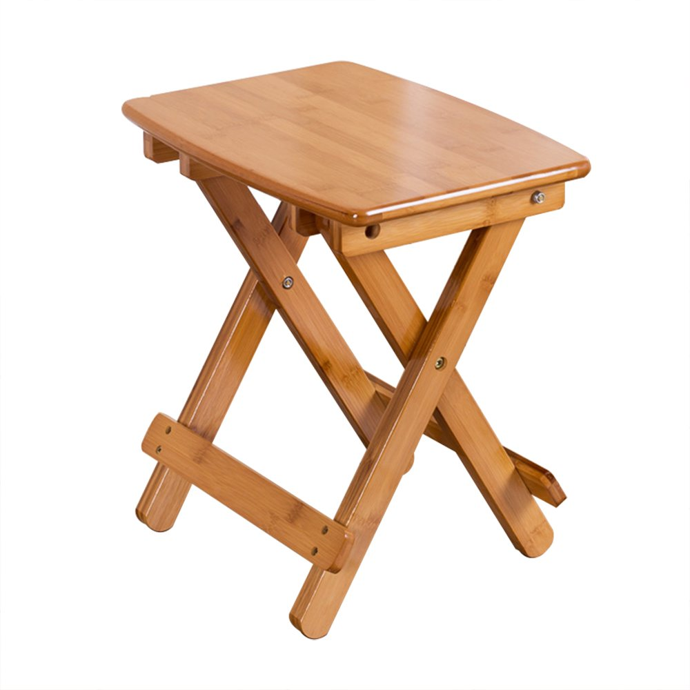 70x65cm Qing MEI Folding Table Portable Simple Bamboo Small Square Table Household Small-Sized Dining Table Bedside Laptop Table - 3 Sizes (Size   70x65cm)