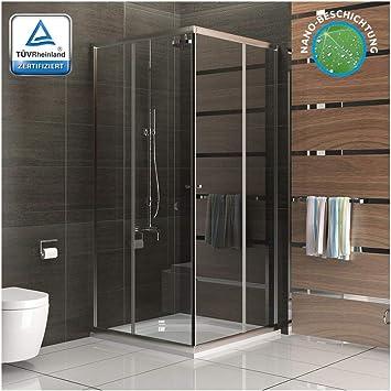 Cabina de ducha Fugo con nanorrevestimiento, ducha de esquina de ...
