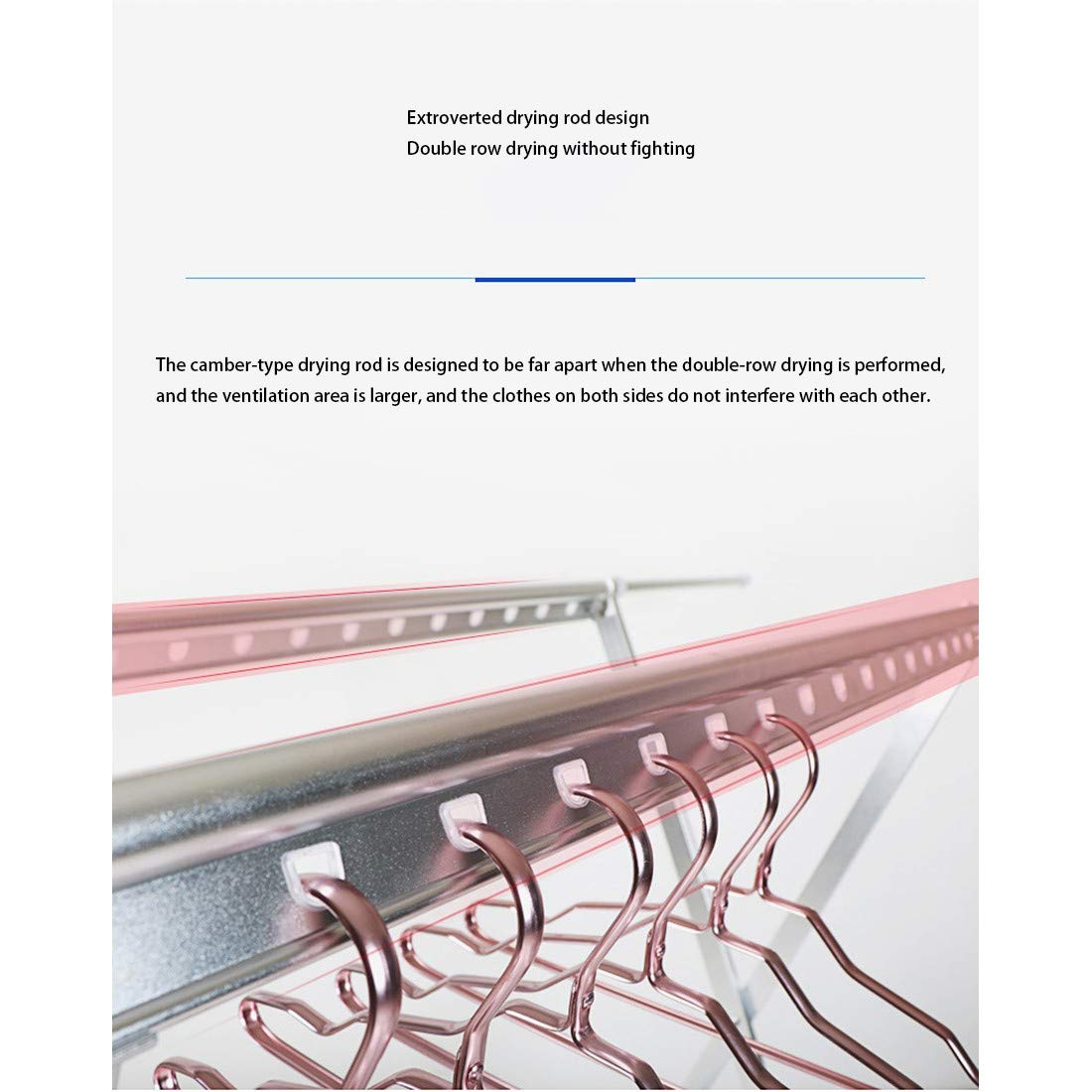 HYLMM Secadora de Ropa Airer Laundry Dryer X-Bar Barra de Secado ...