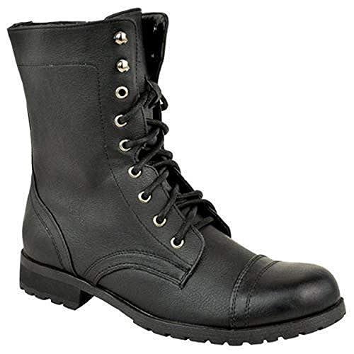 Estilo Combate Motero Mujer Thirsty Fashion Cordones Militar ABw0PUxq