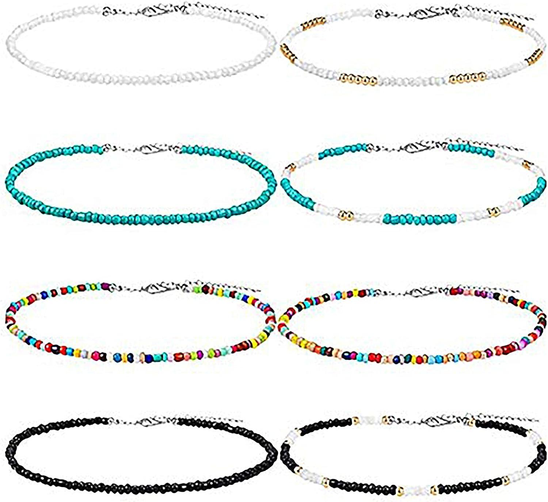 Art Glass Seed Bead Necklaces 2 48\u201d  Boho Hippie Glass Bead Necklaces  Long Necklaces  Boho Necklaces  Festival Jewelry