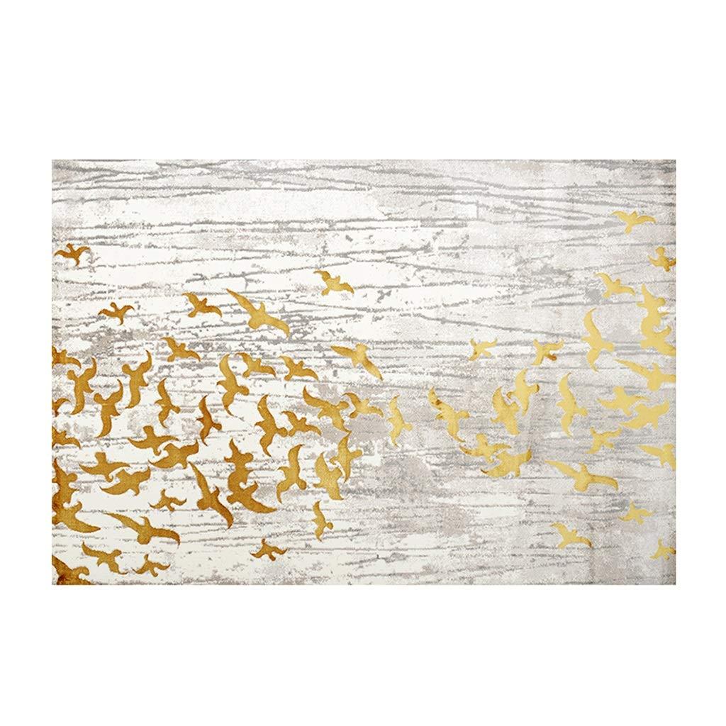 ラグカーペット ラグカーペットマット カーペット ソファのコーヒーテーブルの毛布 ベッドルームのベッドサイドラグ 長方形のアートカーペット ライト高級カーペット (Color : A, Size : 160*230cm) 160*230cm A. B07L4NX5SR