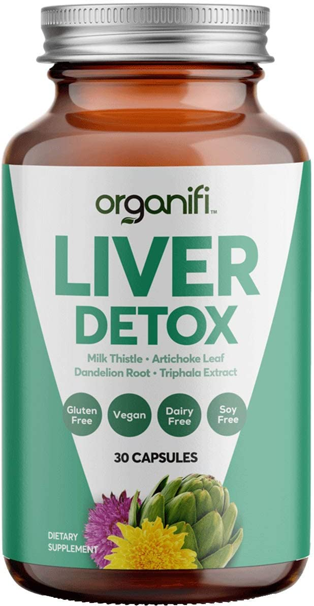 Organifi: Liver Detox - Herbal Liver Detox and Support - 30 Day Supply - Optimal Levels Balance - Digestive and Immunity Support