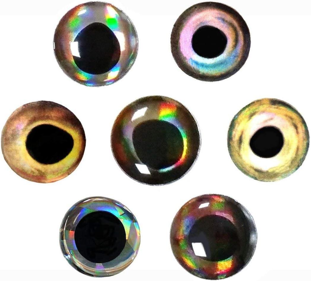 Lumineux VGEBY Poisson Lure Bait 5 Pcs 3D Lumineux Durable Calmar Crochets De P/êche Calmar Poissons De Seiche Jig Accessoire De P/êche pour La P/êche en Eau Douce