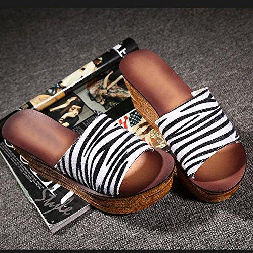 Estate Con Donne 2 4 Sandali Eu39 Tallone Pantofole Colori Le Da colore Mette Dell'alto Pistoni Scarpe Per Generi Di 4 I 8cm cn39 Dimensioni Donna Haizhen uk6 w1Hqnz1FO
