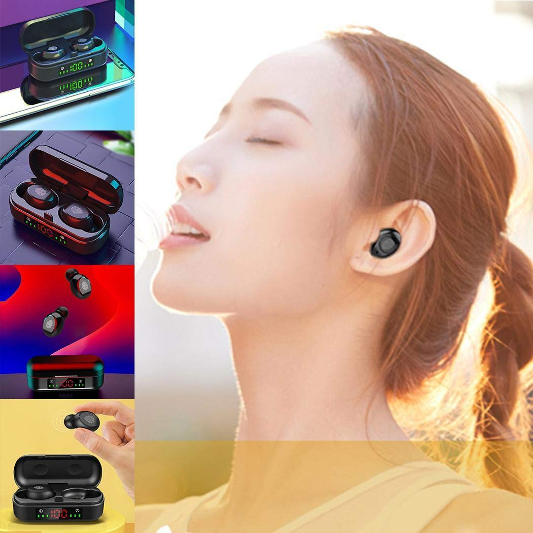 masite Touch Control Bluetooth Earphones LED Display Wireless Sports Earbud Headset Bluetooth Headsets