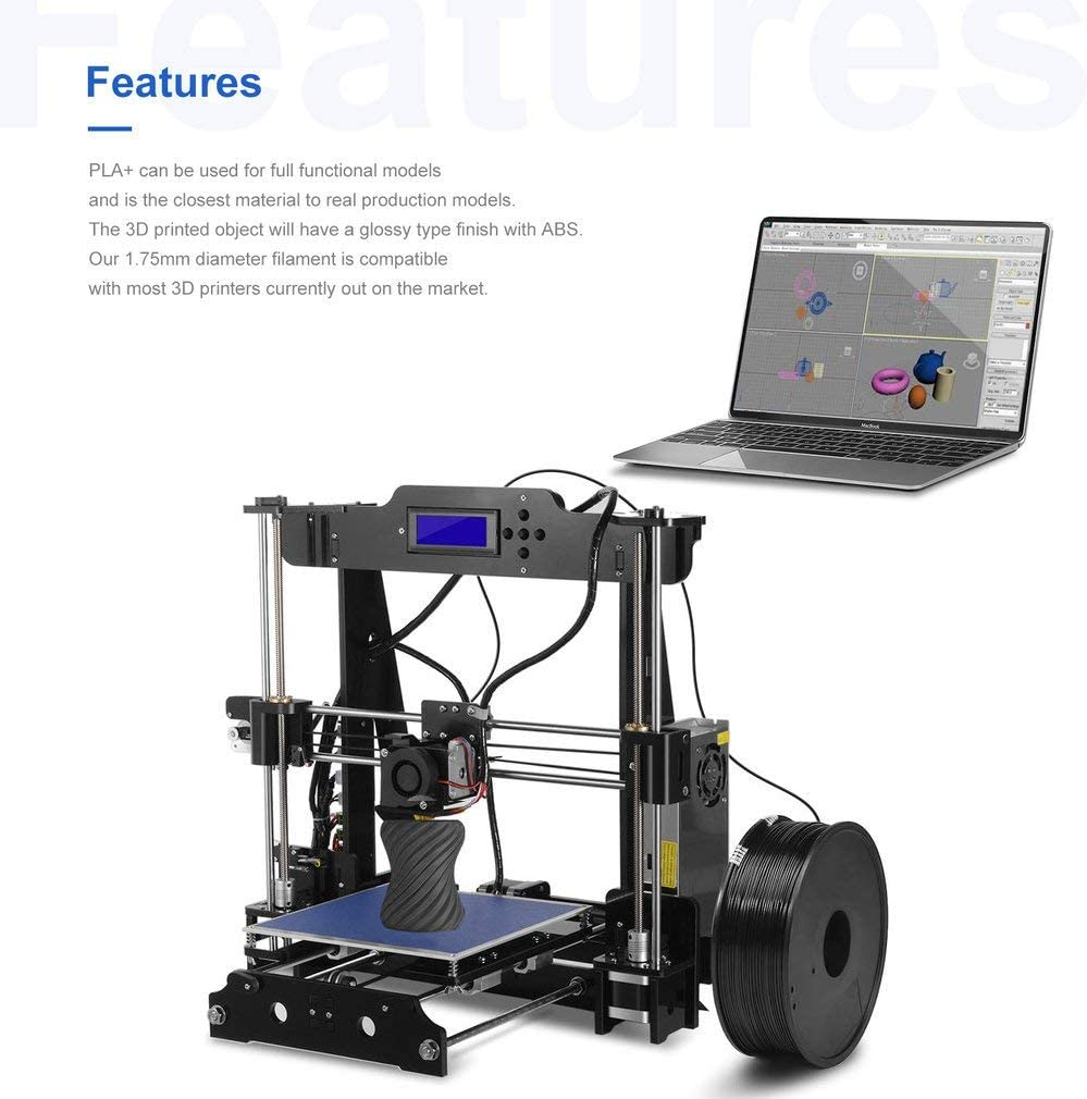 Kitechildhood 1.75 mm PLA Pro (PLA +) Impresora 3D Filamento ...