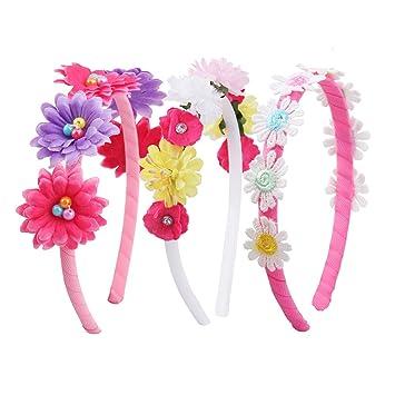 7fdafcabb1e0 Candygirl Belle Lot Serre-Tête Floral Bandeau cheveux pour Fille Femme  Plage Mariage Fête (