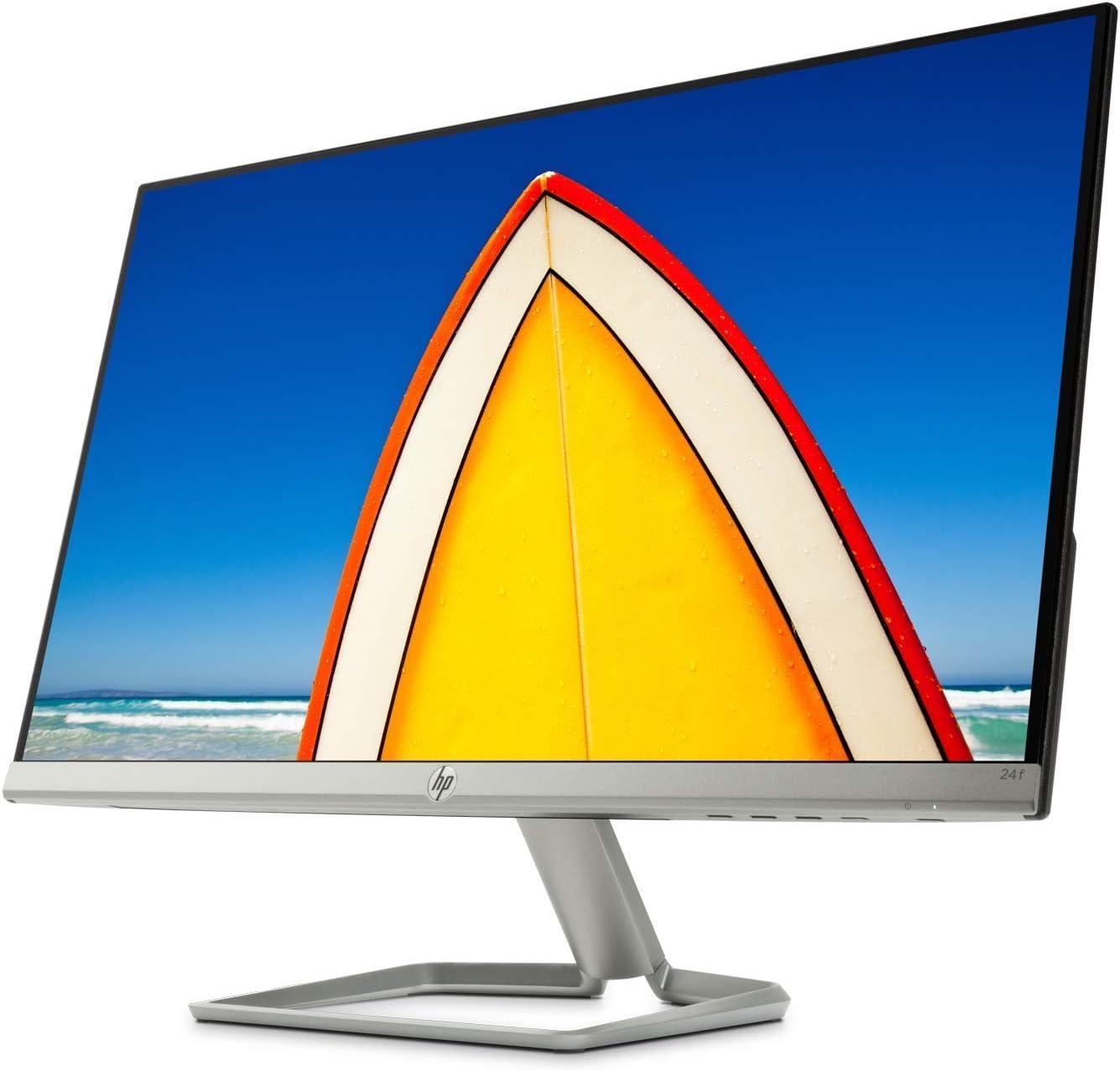 Hp 24f Monitor Schwarz Silber Computer Zubehör