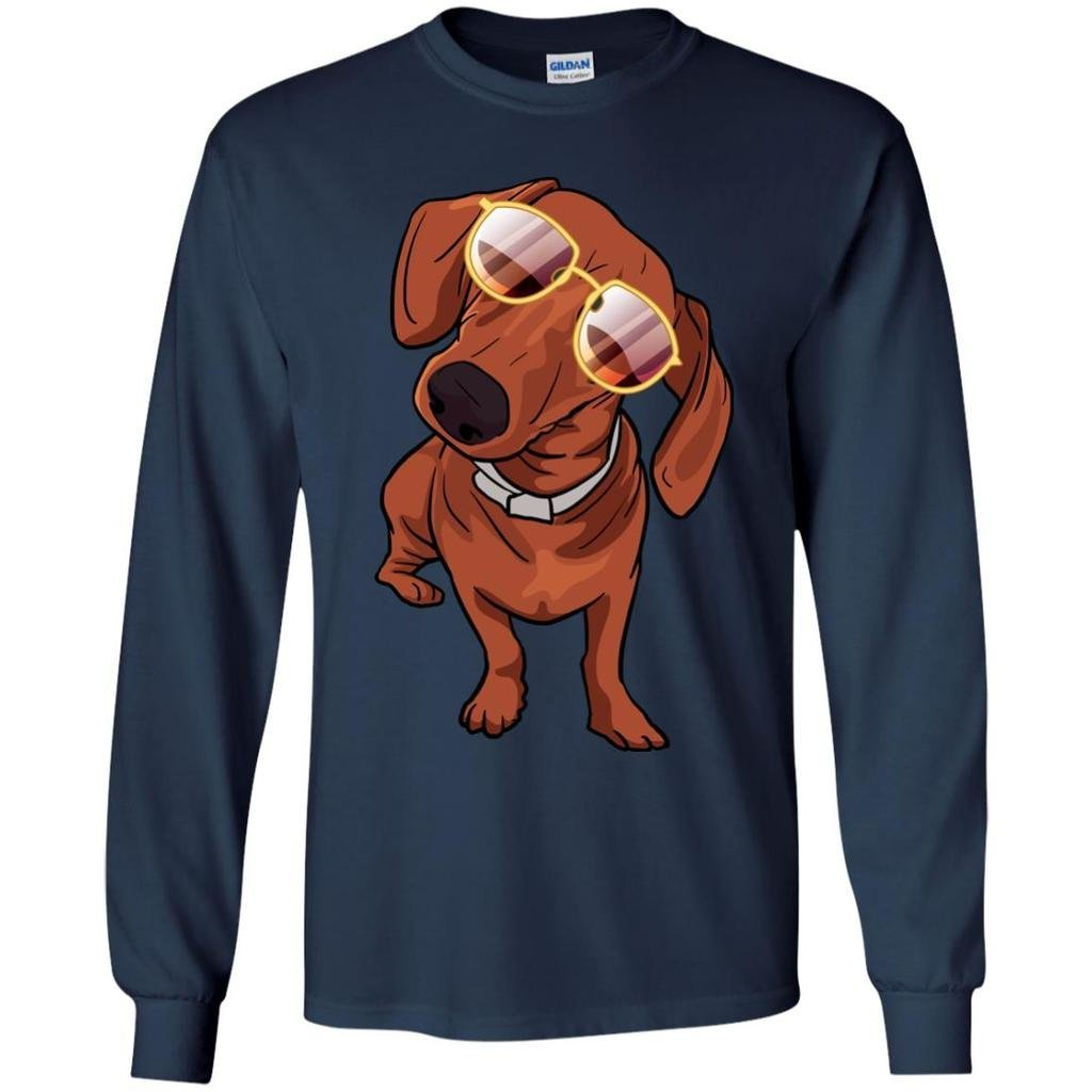 Weezag Dachshund Long Sleeve Shirt, for Cute Dog Lovers 9056A_CC_AP_GLST