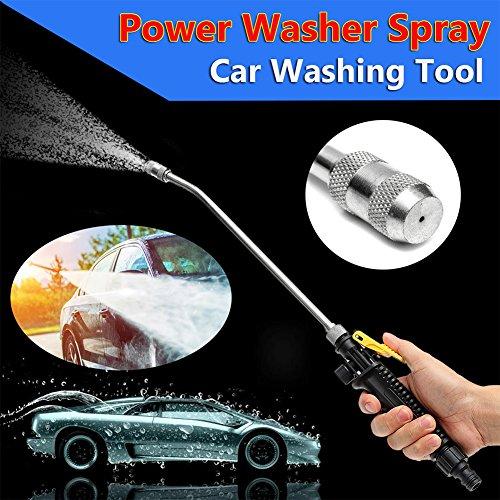 Washing Spray, High Pressure Car Cleaning Foam Gun Washing Foamaster Gun Hose Nozzle Shampoo Sprayer Foamaster Cleaning Gun, for Home Garden Lawn Pet Car (Car Foam Tire)