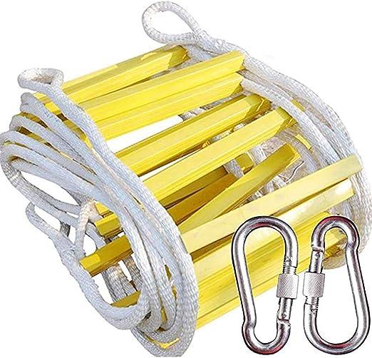 Escalera contra incendios, trenza de nylon, cuerda de alambre con núcleo interno Escalera de escape antideslizante - Mantenimiento de equipos de gran tamaño, edificios de gran altura Escalera de escal: Amazon.es: Hogar