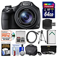 Sony Cyber-Shot DSC-HX400V Wi-Fi Digital Camera with 64GB Card + Case + Battery + Tripod + HDMI Cable + 3 Filters Kit
