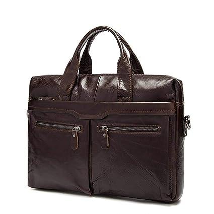 f2b386fb0868 Amazon.com: cjc Men's Tote, Shoulder Briefcase, Leather Business ...
