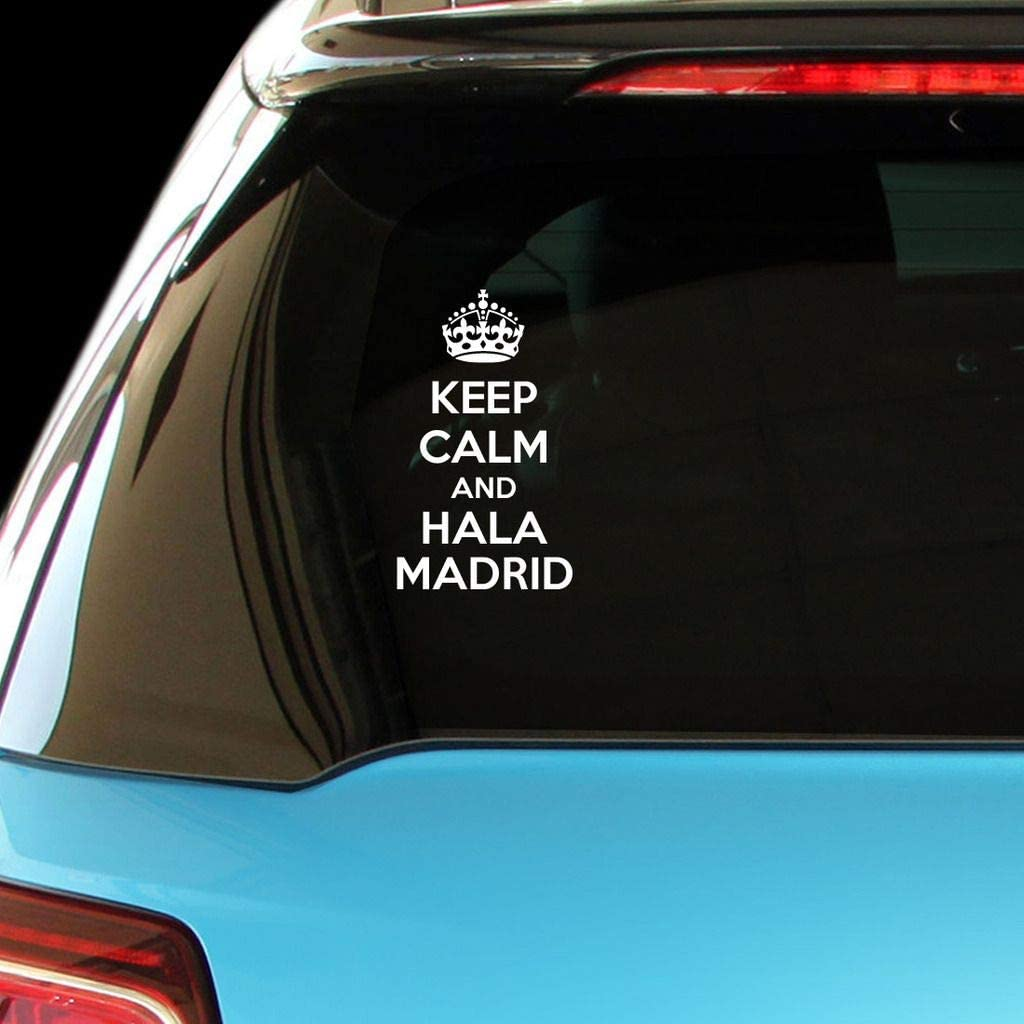 PressFans - Keep Calm and HALA Madrid Car Laptop Wall Sticker