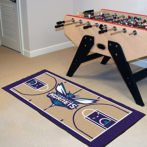 Charlotte Basketball Rug - Fan Mats Charlotte Bobcats Nba 2x4 Court Runner (24x44)
