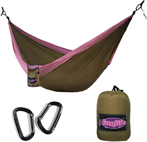 PRO CAMP Double Camping Hammock-Lightweight Nylon Portable Hammock-Most Reasonable Price with Name Brand Quality Parachute Hammock