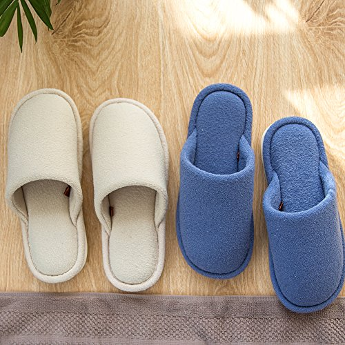 Cotton Mens Slippers Pink Shoes Mianshe For slip Lightweight Anti Home Knitted Womens Comfort Indoor House tEqqwO4