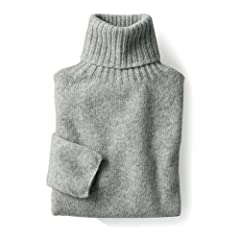 Nor'Easterly Shetland Wool Turtleneck Sweater 15-010: Silver