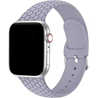 Bandiction 38mm/40mm/42mm/44mm Replacement Silicone Sport Bands