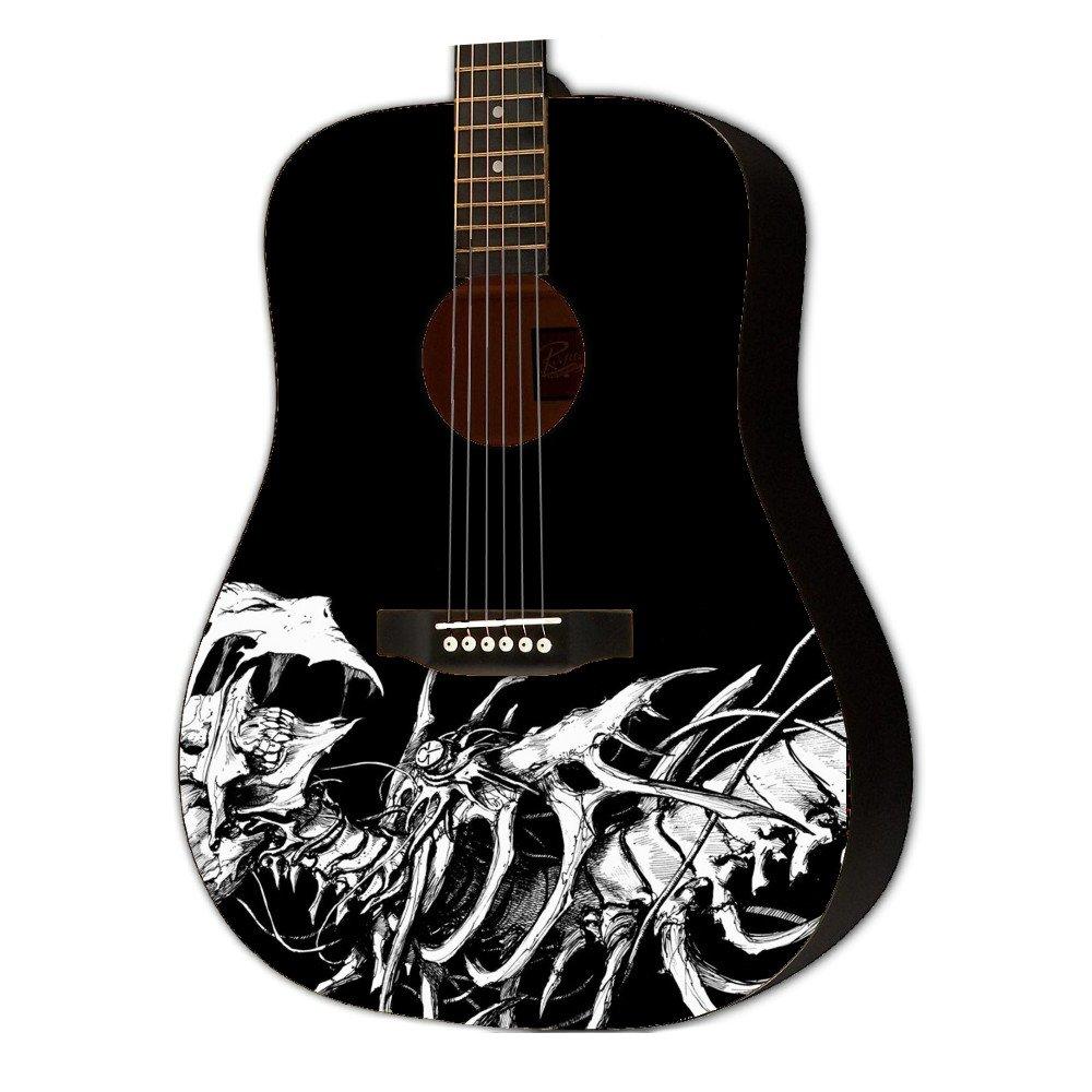 Graphic Acoustic Guitar VIRAL BONES Design