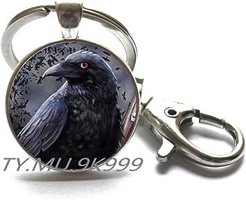 crow 2 X 25mm Vidrio Cabujón de Cráneo Gótico bird
