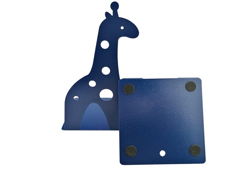 pink Cute Cartoon Giraffe Shape Nonskid Metal Bookends For Kids Gift Decoration