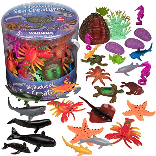Action Figures Animals & Dinosaurs Realistic Educational Sea Animal Figures Assorted Sea Animals Toys For Learning Yet Not Vulgar