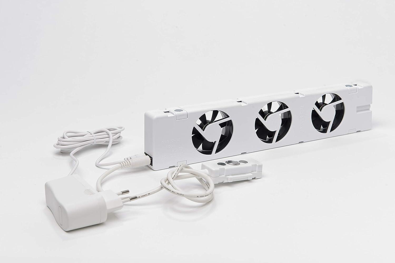 Smarter Heizk/örper Verst/ärker Ventilator f/ür Heizungen mit mind Energie /& Heizkosten sparen 70mm Platten Zwischenraum zur Befestigung unter dem Heizk/örper