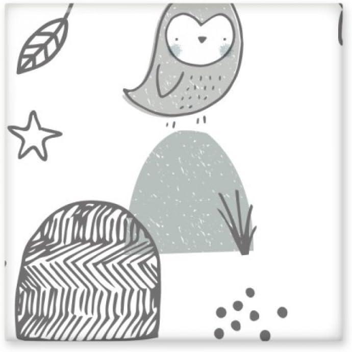 Jaula de pájaros de dibujos animados con forma de estrella de montaña para decoración de baño, azulejos de pared de cerámica