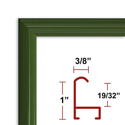 32 X 24 Green Poster Frame Profile 15 Custom Size Picture Frame