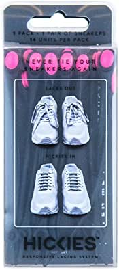 HICKIES 1.0 Original Unisex One Size Fits All Elastic No-Tie Shoelaces For All Types Of Shoes(14 HICKIES Shoelaces)