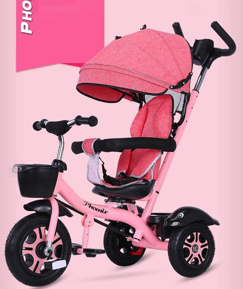 Aocean Tricycle,Triciclos Bebes Evolutivo Infantil 4 en 1 Bicicletas para Bebe Niños Reclinable Cochecito con Cuna Reversible al Padres MáXima 30 Kg