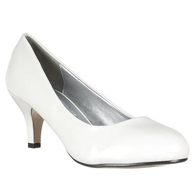 Amazon.com | Lasonia Womens M2584 Round-toe Mid-heel Patent Pumps ...