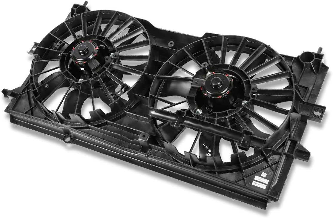 GM3115122 OE Style Radiator Cooling Fan Assembly for Chevy Monte Carlo Impala 3.4L 3.8L 00-03
