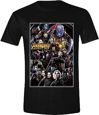 Marvel Camiseta Avengers para Hombre Infinity War Poster Collage Cotton Black - L: Amazon.es: Zapatos y complementos