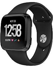 Kmasic Sport Armband Kompatibel Fitbit Versa/Fitbit Versa Lite Edition, Soft Silikon Ersatz Armband Kompatibel Fitbit Versa/Lite Edition Smartwatch, Groß Klein