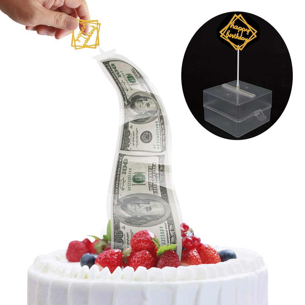 Aprildecember666 Cake Money Box, Money Pulling Cake Making Mold, Food Contact Safe,4.3X4.3X2.8 inch