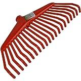 Laubrechen 21Zinken 38cm rot Kunststoff Bügel Rechen Laubrechen Bügelrechen