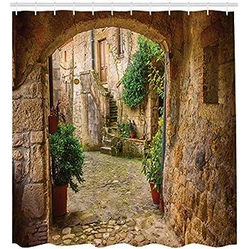 Amazon.com: Ambesonne Paris Shower Curtain, Famous French