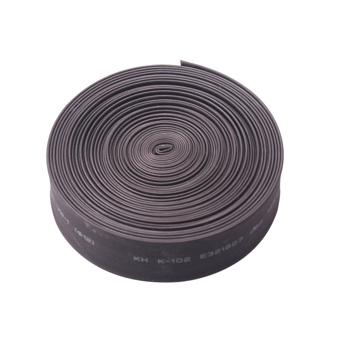 熱収縮チューブ、電気ケーブルワイヤラップ比2 : 1熱縮みShrinkable Sleevingブラック 9M / 30Ft MO6C B0754347T5 9M / 30Ft|Dia.12mm Dia.12mm 9M / 30Ft
