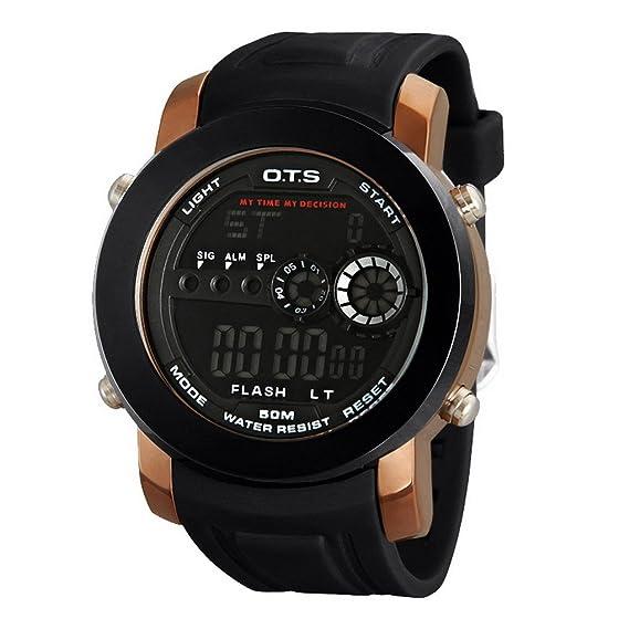 Los estudiantes impermeable reloj de muñeca digital con fecha/alarma/temporizador/luz de