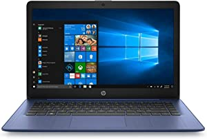 "(Renewed) HP Stream 14 14"" Laptop Computer, AMD A4-9120e up to 2.2GHz, 4GB DDR4 RAM, 64GB eMMC, 802.11ac WiFi, Bluetooth 4.2, Webcam, HDMI, Online Class Ready, Royal Blue, Windows 10 S, SPMOR MousePad"