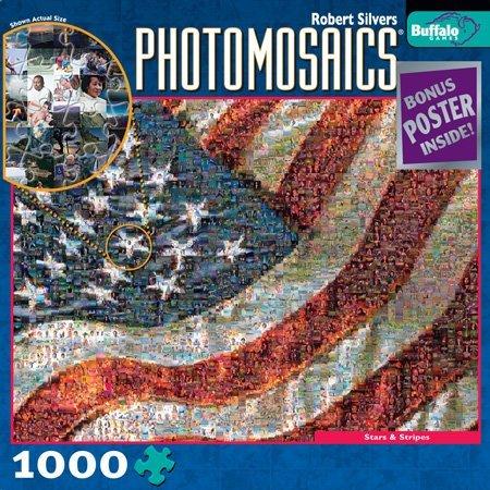 Photomosaic Stars & Stripes Jigsaw Puzzle - 1000pc Puzzle Photomosaics Jigsaw