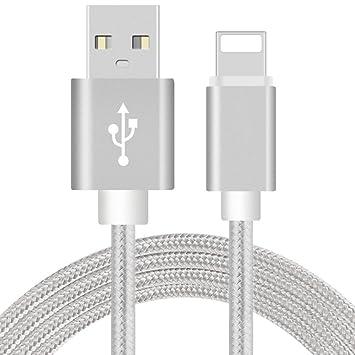 iroundy Cargador USB Cable 8 Pin USB de sincronización de datos cable de carga para iPhone 5/5S 6/6S Plus iPad 4 Air 2 Mini 2/3 cable de carga rápida