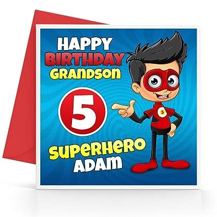 Tarjeta de cumpleaños de superhéroe para niños ...