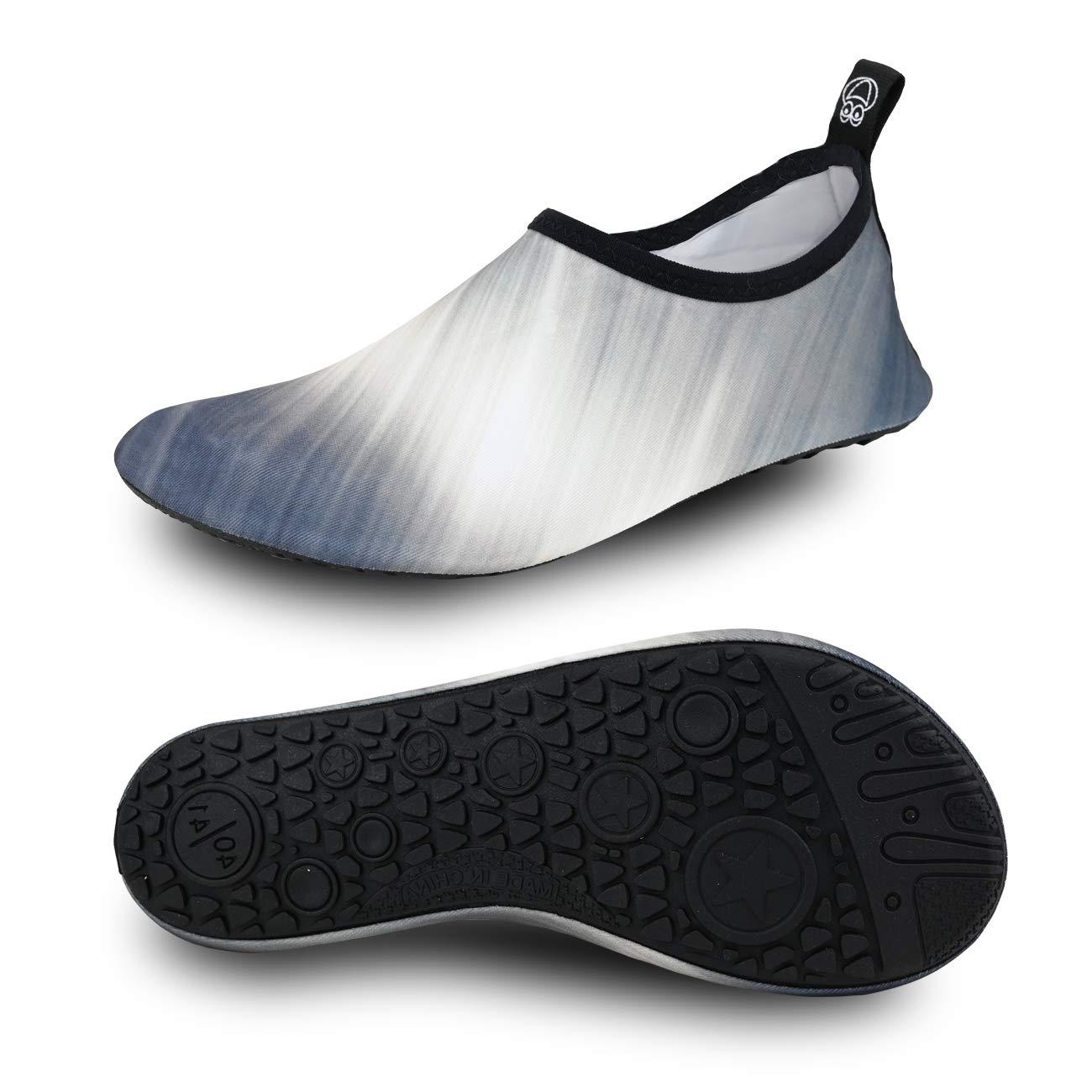 MET520 Men Women Water Shoes Quick-Dry Aqua Socks Barefoot/Slip-on for Sport Beach Swim Surf Yoga Exercise