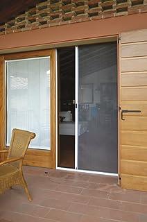 Zanzariera a rullo in alluminio per porte/balconi con profilo ...